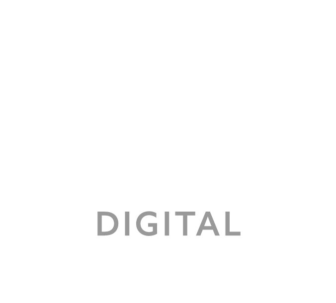 Waxx Digital White & Grey Footer Logo